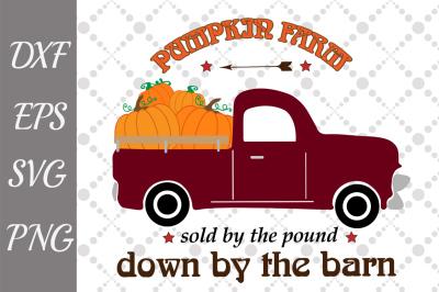Pumpkin Truck Svg, PUMPKIN FARM SVG, Pumpkin Svg,Truck Svg