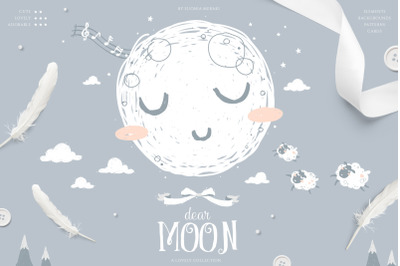 dear MOON - cute lullaby pack