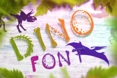 Dino Font - prehistoric style