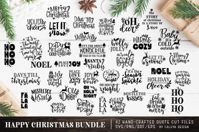 Happy Christmas SVG Cut File Bundle