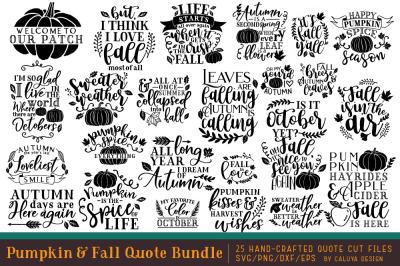 Pumpkin & Fall Quote SVG Cut File Bundle