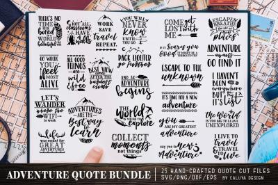 Adventure Quote SVG Cut File Bundle