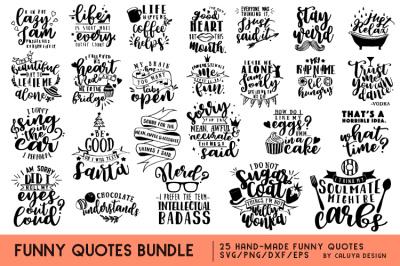 Funny Quotes SVG Cut File Bundle