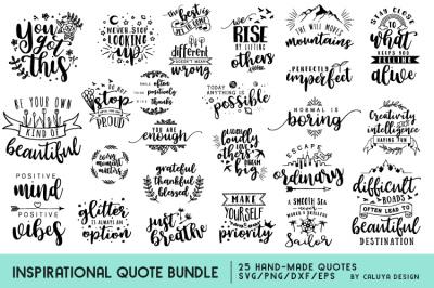 Inspirational Quote SVG Cut File Bundle
