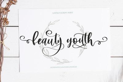 Beauty Youth. Lovely Script