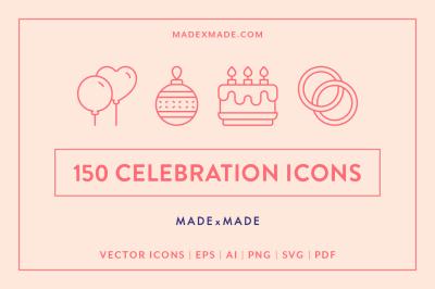 Line Icons – Celebration