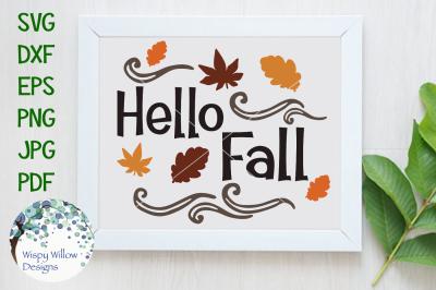 Hello Fall | Autumn Cut File