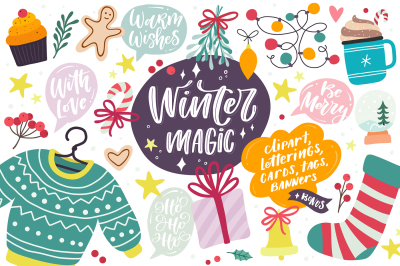 Winter Magic & Holiday Graphics Set
