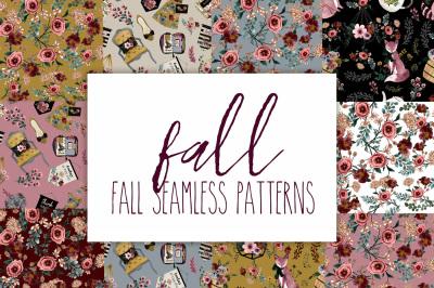 Fall seamless patterns