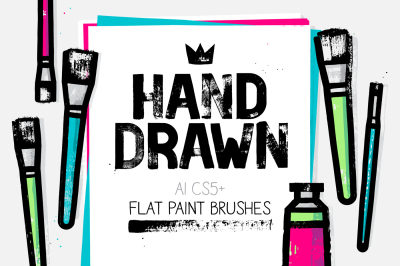 AI flat paint brushes