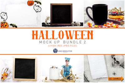 Halloween Mockup Bundle 2, styled stock photos, high-res JPEG