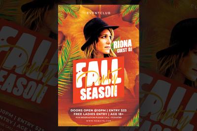 Fall Season Party Flyer