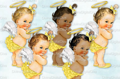 Ruffle Pants Vintage Baby Girl Set Yellow & Gold Angel