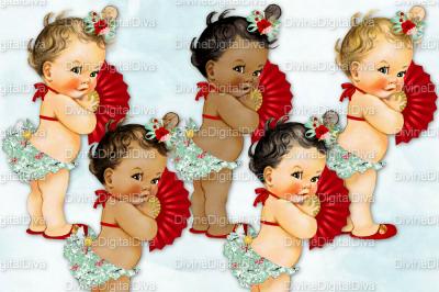 Ruffle Pants Vintage Baby Girl Set Asian Princess