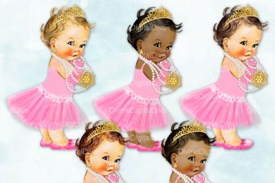 Tutu Vintage Baby Girl Set Audrey Hepburn Pink & Gold