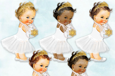 Tutu Vintage Baby Girl Set Audrey Hepburn White & Gold