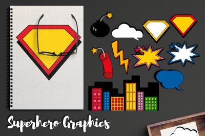 Superhero Comic Book Element Graphics
