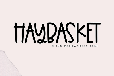 Haybasket - A Fun Handwritten Font