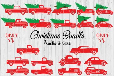 Christmas Trucks & Cars Bundle