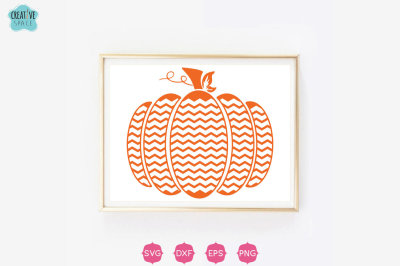 Chevron Pumpkin SVG, Pumpkin Svg, Halloween Svg, Pumpkin Clipart,