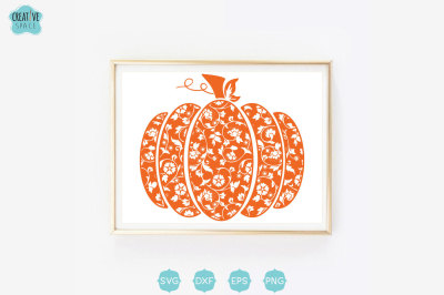 Lace Pumpkin svg