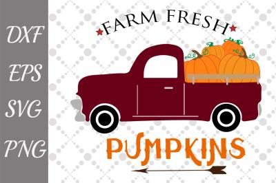 Pumpkin Truck Svg,FARM FRESH SVG, Pumpkin Svg,Truck Svg