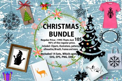Christmas bundle / christmas svg bundle vector