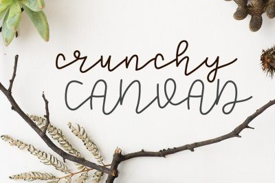Crunchy Canvad Monoline Font by Southern Font Store