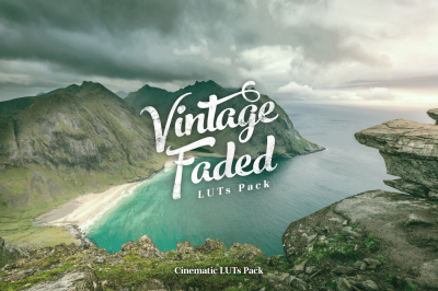 Vintage Faded - Cinematic LUTs Pack for videos