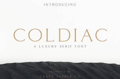 Coldiac - Luxury Serif Font