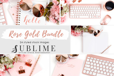 Rose Gold Styled Stock Photography Bundle