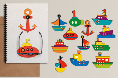 Water Transportation Clip Art Graphics