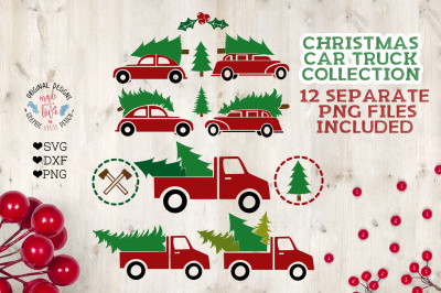Christmas Car and Truck Collection Cut File
