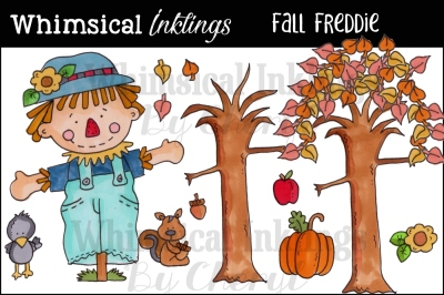 Fall Freddie Scarecrow Clipart Collection