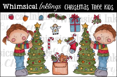 Christmas Tree Kids Clipart Collection