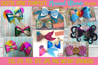 Ultimate Mermaid Hair Bow Bundle Template