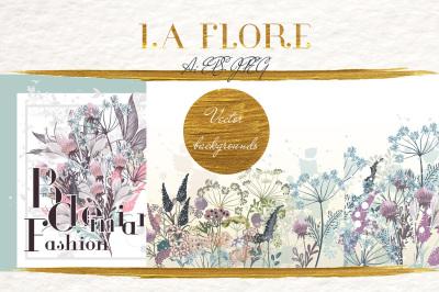 Flora vector backgrounds