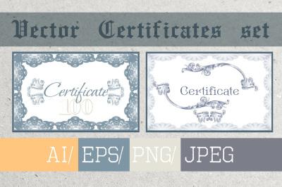 Certificates set, vector backgrounds