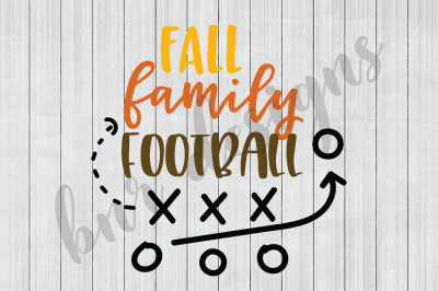 Fall SVG, Family SVG, Football SVG, SVG Files, DXF File