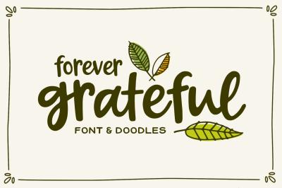 Forever Grateful Font & Doodles