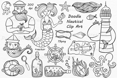 Doodle nautical clipart