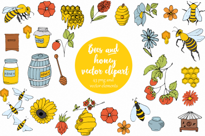 Vector Bees and Honey!