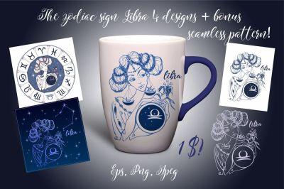 The zodiac sign Libra.
