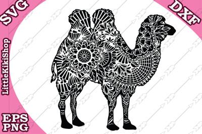 Zentangle Camel Svg, MANDALA CAMEL SVG, Camel cut files