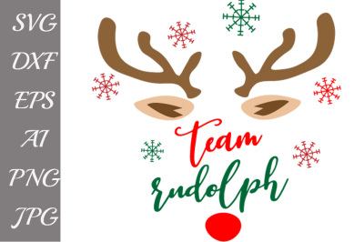 Team Rudolph Svg, SVG VECTOR FILES,hristmas Svg
