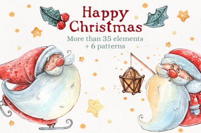 Happy Christmas set +6 patterns