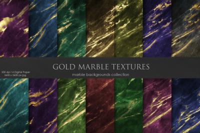 Gold Marble DARK Textures