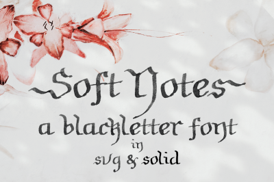 Soft Notes | a SVG font