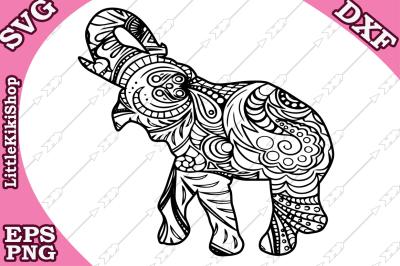 Zentangle Elephant Svg, MANDALA ELEPHANT SVG, Zentangle animal Svg