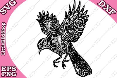Zentangle bird Svg, MANDALA BIRD SVG,Zentangle animal Svg
